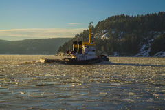 Tug & icebreaker Royalty Free Stock Image