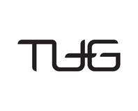 TUG Letter Logo. TUG Logo Concept Design, AI 10 supported Royalty Free Stock Images