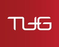 TUG Letter Logo. TUG Logo Concept Design, AI 10 supported Royalty Free Stock Photography