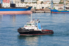 Tug Outside Italian Port Royalty Free Stock Images