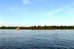 Tug-pusher `Ruslo` on the river Ob. Stock Photography
