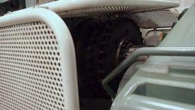 Tug`s AHTS Main Engine 3 000 HP. Flywheel. Tug`s AHTS Main Engine 3 000 HP stock video footage