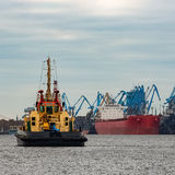 Tug ship in port Stock Photography