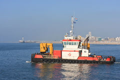 Tug Ship at Scheveningen Royalty Free Stock Photos