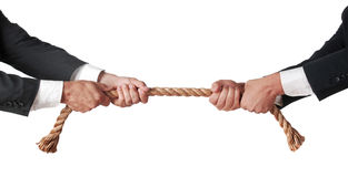 Tug of war. Between businessmen Royalty Free Stock Image