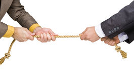 Tug of war. Between businessmen royalty free stock photo