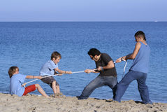 Tug of war. Fun play tug of war stock images