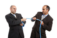 Tug-of-war. Business competition concept royalty free stock photos