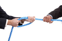 Tug-of-war. Business competition concept Stock Image