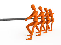 The tug of war. Stock Images