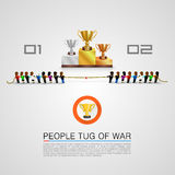 Tug of war for the award. Vector Illustration Stock Images