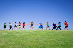 Tug Of War on a beautiful day Royalty Free Stock Photo