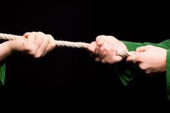 Tug of War cloeseup Stock Image