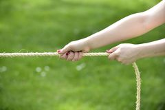 Tug of war Royalty Free Stock Photography