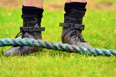 Tug of war closeup Royalty Free Stock Photo