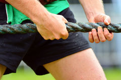 Tug of war closeup Royalty Free Stock Photography