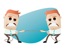 Tug of war. Funny tug of war illustration Stock Image