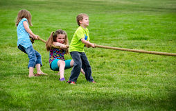 Tug of war game Royalty Free Stock Photography
