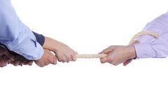 Tug-of-war hands Royalty Free Stock Photos