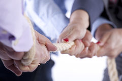 Tug-of-war hands Royalty Free Stock Images