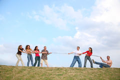 Tug of War on Hill Stock Photos