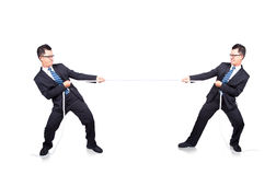 Tug of war with myself Stock Image