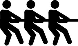 Tug of war pictogram. Vector Royalty Free Stock Photography