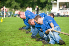 Tug of War at Strathpeffer Gathering. Royalty Free Stock Photo