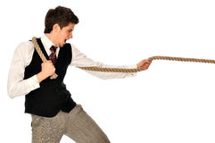 Tug-of-war at work Royalty Free Stock Photos