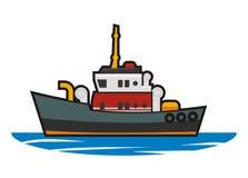 Tugboat απλή απεικόνιση Στοκ εικόνες με δικαίωμα ελεύθερης χρήσης