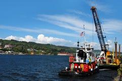 Tugboat εργασία Στοκ φωτογραφία με δικαίωμα ελεύθερης χρήσης