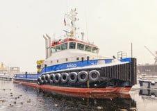Tugboat που υπερασπίζεται το Schmidt υπολοχαγών ανάχωμα Στοκ Εικόνα