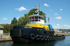 Tugboat τιτάνων Κόλπων Στοκ Εικόνες