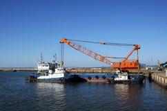 tugboat крана стоковые изображения rf