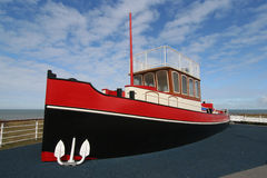 Tugboat. For children to climb and play on royalty free stock image