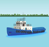 The tugboat Stock Image