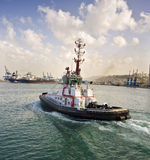 Tugboat. At Haifa port, Israel Royalty Free Stock Photo