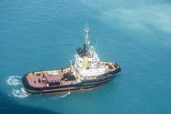 Tugboat in Bermuda Blue Water Royalty Free Stock Image
