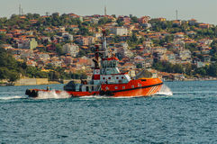 Tugboat on Bosphorus Stock Photography