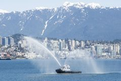 Tugboat in Burrard Inlet Royalty Free Stock Photography