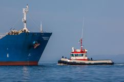 Tugboat. On calm Icelandic waters Stock Photography