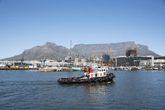 Tugboat on Cape Town harbour South Africa Royalty Free Stock Image