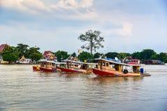 Tugboat cargo ship in Chao Phraya river. Royalty Free Stock Photos