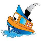 Tugboat. Cartoon drawing of a tugboat Royalty Free Stock Images