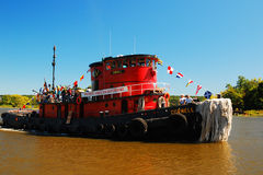 The Tugboat Cornell Plies the River Stock Photography