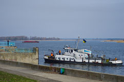 Tugboat on the Dnieper River Royalty Free Stock Photography
