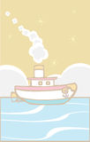 Tugboat do brinquedo Imagens de Stock