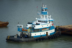 Tugboat at Dock Stock Image