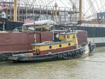 Tugboat on East river New York City Manhattan Stock Image