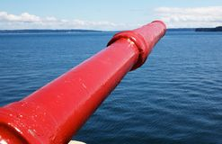 Tugboat Fire Nozzle Stock Image